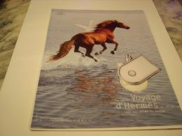 PUBLICITE AFFICHE PARFUM VOYAGE DE HERMES  2011 - Fragrances