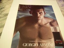 PUBLICITE AFFICHE PARFUM SPORT CODE ARMANI  2011 - Fragrances