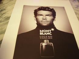PUBLICITE AFFICHE PARFUM LEGEND DE MONT BLANC  2011 - Fragrances