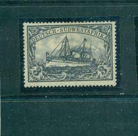 Schiffszeichnung, Nr.31 B B Falz * - Kolonie: Deutsch-Südwestafrika