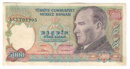 Turkey 5000 Lirasi 1981 Pick 196 - Turkey