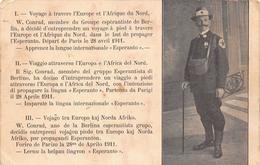 W. Conrad De Berlin Esperanto - Globetrotter - Voyage à Travers L'Europe Et L'Afrique Du Nord - Militaire Militaria - Politieke En Militaire Mannen