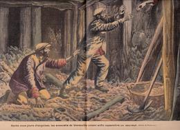 Gravure 26 X 37 Près YVETOT VANESVILLE Accident Galerie Carrière Ouvrier Marneur Sauvetage - 1900 - 1949