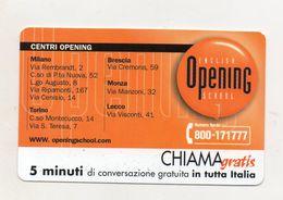 Telecom - Scheda Chiama Gratis - 2001 - OPENING - 5 Minuti Di Conversazione Gratuita - NUOVA - (FDC7991) - [2] Sim Cards, Prepaid & Refills