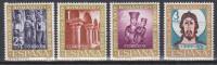 Espagne N° 1038 - 1041 *** Exposition D'Art Roman : C. St J. De Compostelle, M. St Domingo, Mad Irace, Egl Tahuil - 1961 - 1961-70 Neufs