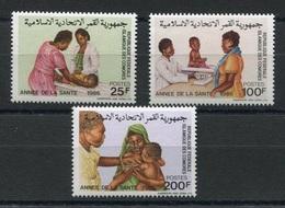 RC 6890 COMORES 440 / 442  - ANNÉE DE LA SANTÉ 1986 SERIE COMPLETE NEUF ** TB - Comoros