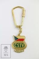 Vintage CSTV College Sports Television Czech Keyring/ Keychain - Llaveros