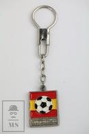 Vintage FIFA World Cup Spain 1982, Football Stadium Enamel Keyring/ Keychain - Llaveros