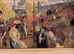 """Gravure 26 X 37 Chômeurs De LA RUHR Puits Mine Galerie Scories Houille Mineurs Mining """"Gueules Noires"""" - Livres, BD, Revues"""