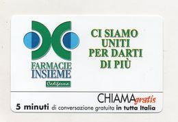 Telecom - Scheda Chiama Gratis - 2001 - FARMACIE INSIEME - 5 Minuti Di Conversazione Gratuita - NUOVA - (FDC7997) - [2] Sim Cards, Prepaid & Refills
