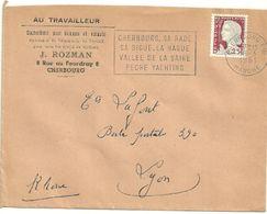 MANCHE - Dépt N° 50 = CHERBOURG Ppal  1961 = FLAMME Non Codée = SECAP  ' RADE / DIGUE - HAGUE / VALLEE SAIRE / PECHE  ' - Postmark Collection (Covers)