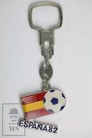 Vintage FIFA World Cup Spain 1982, Enamel Metal Keyring/ Keychain - Llaveros