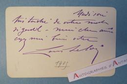 Carte Autographe 1905 Louis LELOIR (Sallot) Acteur - Comédie-Française - Lettre L.A.S - Autographes