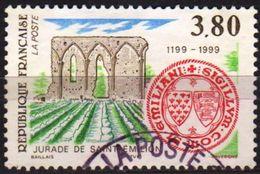 France 1999 1 V Used  Jurade De Saint-Emilion Wine Vineyard - Vins & Alcools