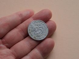 TOULOUSE Dép. De La Ht Garonne - BP 25 Ct. - 1922 / 1927 ( Union Latine Comite Du Sud-Ouest / Voir Photo Svp ) ! - Monétaires / De Nécessité