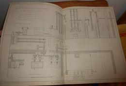 Plan De Gazomètre Particulier Pour Un éclairage De 500 Becs Au Boghead. 1860 - Travaux Publics