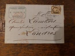 01.02.18_ LSC  De Marseille,pour Londres  Sur N°56 A Voir!! - Postmark Collection (Covers)
