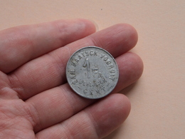 1 Fr. Deeljeton SAM. MAATSCH. VOORUIT - GENT - 1880 * De Namaker Zal Vervolgd Worden * ( Alu. / Zie Foto's ) ! - Monétaires / De Nécessité