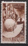 1952 SÁHARA. FERNANDO EL CATÓLICO CORREO AÉREO 5 PTS USADO. 15 € - Sahara Español