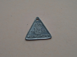 Belasting Op HONDEN West Vlaanderen 1950 - 038908 ( TOKEN For Dog / Chien TAX / For Detail, Zie/see Photo ) ! - Unclassified