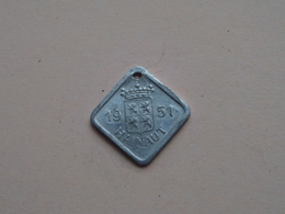 Belasting Op HONDEN : HAINAUT 1951 - 022932 ( TOKEN For Dog / Chien TAX / For Detail, Zie/see Photo ) ! - Unclassified