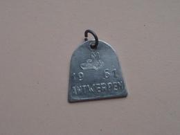 Belasting Op HONDEN : ANTWERPEN 1961 - 46598 ( TOKEN For Dog / Chien TAX / For Detail, Zie/see Photo ) ! - Belgium