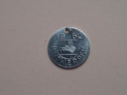 Belasting Op HONDEN : ANTWERPEN 1962 - 46141 ( TOKEN For Dog / Chien TAX / For Detail, Zie/see Photo ) ! - Unclassified
