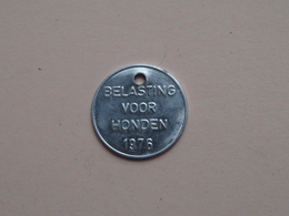Belasting Op HONDEN : ANTWERPEN 1976 - 12154 ( TOKEN For Dog / Chien TAX / For Detail, Zie/see Photo ) ! - Belgium