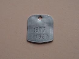 Belasting Op HONDEN : ANTWERPEN 1977 - 11987 ( TOKEN For Dog / Chien TAX / For Detail, Zie/see Photo ) ! - Unclassified