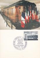 Frankreich France FDC Max Card 11.11.1978 Armistice - Rethondes - Trains
