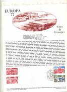 Document Philatelique Poste 1977 Fdc Paris Europa - FDC