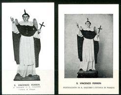 SANTINO - S.Vincenzo Ferreri - 2 Santini Con Preghiera - Imágenes Religiosas