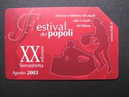 207 GOLDEN EURO - FESTIVAL DEI POPOLI  - USATA - Pubbliche Pubblicitarie