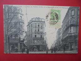 Liège :Place Du Théatre-Rue De La Régence Et De L'Université-ANIMATION (L264) - Liège