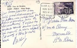 07 - ARDECHE - ST PERAY - DAGUIN FLAMME - 1955   STPE101 - Postmark Collection (Covers)