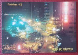 FORTALEZA - Ceara - PRAIA DO NAUTICO Vista Noturna Destaque Para Avenida Pres. Kennedy, Cars Brasil Nv - Fortaleza