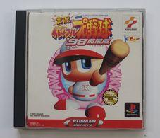 PS1 Japanese : Jikkyou Powerful Pro Yakyuu '98 Kaimakuban SLPM-86097~8 - Sony PlayStation