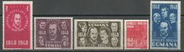Romania,100 Years Of Revolution 1948.,MNH - 1948-.... Republics