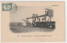 Djibouti Carte Des Cotes Francaises Des Somalies -  Wagon Poseur - Ligne Djibouti Harar N° 33 - Djibouti