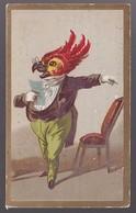 CHROMO BAZAR DE L'ABBAYE Anthropomorphisme Homme Avec Tête De Perroquet - Trade Cards