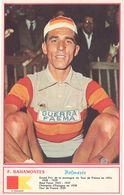 Carte Cycliste (verso Vierge) Coureur Cycliste : F. Bahamontès ( Ph. Miroir Sprint ) ( SPO ) - Cyclisme