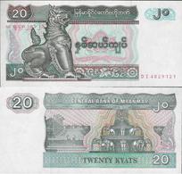 Myanmar 1994 - 20 Kyat - Pick 72 UNC - Myanmar
