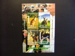 Turkmenistán 1997 Aniversario Greepeace Canguro Yvert Nº 94 / 97 ** MNH - Otros - Europa