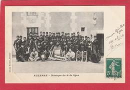 CPA  89 AUXERRE MILITARIA MUSIQUE DU 4ème DE LIGNE  PEU COURANTE - Auxerre