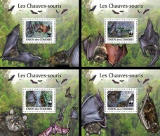 COMORES 2009 ** Bats Fledermäuse WWF 4S/S - OFFICIAL ISSUE - A1623 - Chauve-souris