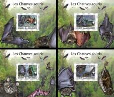 COMORES 2009 ** Bats Fledermäuse WWF 4S/S - OFFICIAL ISSUE - A1623 - Bats