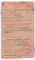 1943 - DOCUMENT CROIX ROUGE Avec EMA - Marcophilie (Lettres)