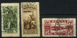 USSR 1925 Michel 302C-304C 20th Anniversary Of Revolution Of 1905. Used Perf. 13 1\2 - 1923-1991 URSS