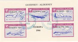 Alderney (Guernsey) - Europa 1966 M/Sheet  - Fine Used - Alderney