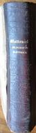MATTEUCCI TELEGRAFIA ELETTRICA  UNIONE TIPOGRAFICA EDITRICE TORINO 1861 - Libri, Riviste, Fumetti
